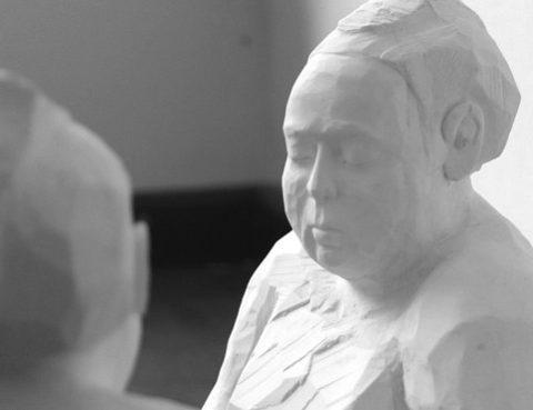 Hockende Sumo - Skulpturen von Christian Richter - Kunst als Kanzleimarketing.