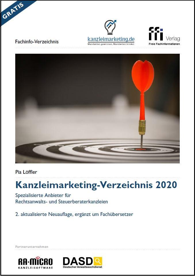 Cover Kanzleimarketing Verzeichnis 2020