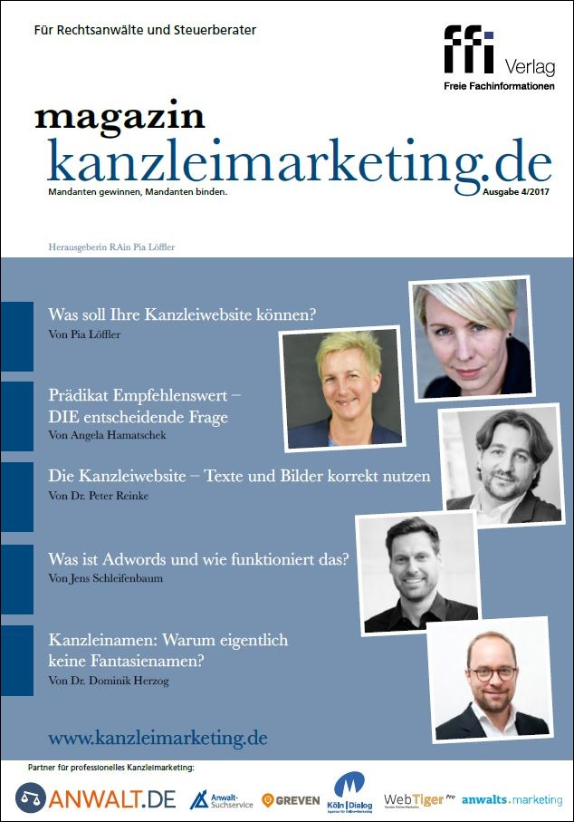 Cover eMagazin kanzleimarketing.de 04/2017