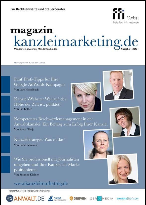 Cover eMagazin kanzleimarketing.de 01/2017