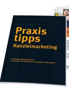 Buchcover Praxistipps Kanzleimarketing