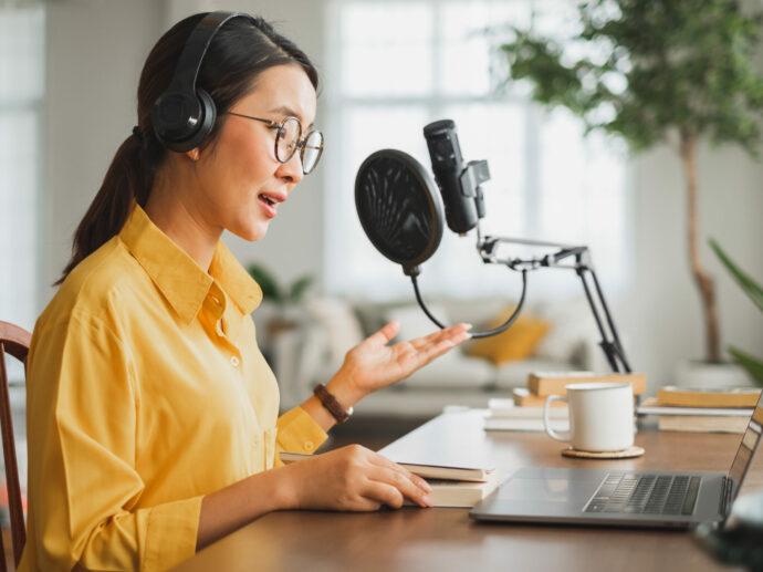 Podcast Stimme