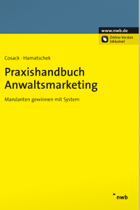 Buchcover Praxishandbuch Anwaltsmarketing