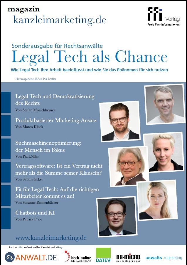 Cover Sonderausgabe Legal Tech