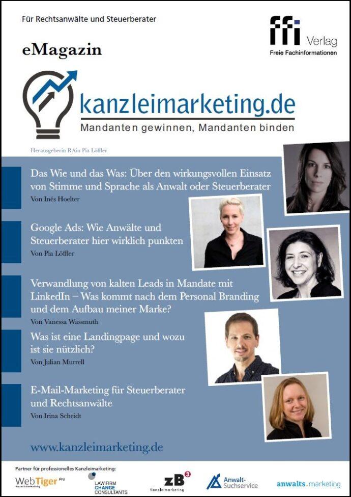 Cover eMagazin Kanzleimarketing.de Ausgabe 02/19