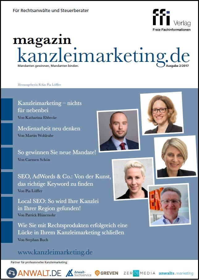 Cover eMagazin kanzleimarketing.de 02/2017